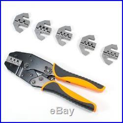 Deutsch Terminal Ratcheting Crimping Tool- Includes 6 Quick Change Dies