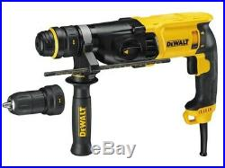 Dewalt D25134K 240v SDS+ Plus Rotary Hammer Drill + Quick Change Chuck + 5x Bits