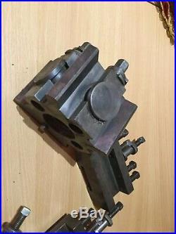 Dickson S2T Quick Change Tool Post & 3 X Holders Lathe Colchester Harrison Etc