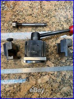 Dorian Quadra Quick Change CXA Lathe Tool Post 16-20 QITP40N +Holders Y102