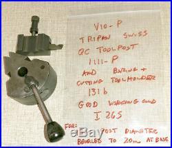 Emco Maximat V10 Series Lathe Tripan 1111-P Quick Change Tool Post I26S