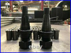 Erickson Quick Change DA180 Collet Tool Holders X 2 with 34 Collets 30NMTB