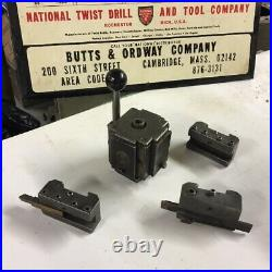 FIMS Size No 2A Quick Change Tool Post Set 3 Holders fit South Bend Heavy 10 USA
