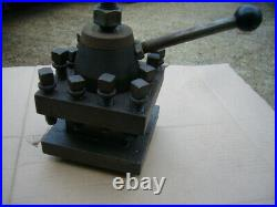 Four Position Quick Change Tool Post Holder 5 1/2 SQ and 1 3/4 openning Mc Corsk