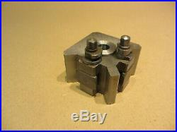 GENUINE ELLIOT QUICK CHANGE TOOLPOST + 4 TOOL HOLDERS for MYFORD LATHES