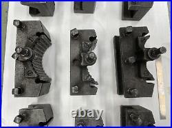 GENUINE! Qty 9 Swiss / W. German MULTIFIX Size B Quick Change Tool Post Holders