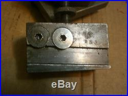 Genuine Aloris BX Quick Change Lathe Tool Post Holder with cut off holder