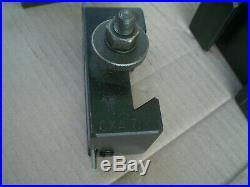 Genuine Aloris CXA Quick Change Lathe Tool Post Holder with 4 holders