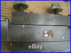 Genuine Aloris DA Quick Change Lathe Tool Post Holder with 2 DA2 holders