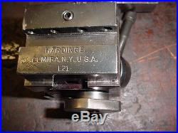 HARDINGE L18 Precision Dovetail Quick Change Tool Post with (2) L21 Holders USA