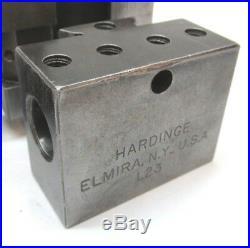 HARDINGE L18 QUICK-CHANGE LATHE TOOL POST with (2) L23 BORING TOOL HOLDERS