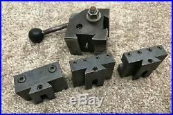 Hardinge L18 Quick Change Tool Post + 3 Holders