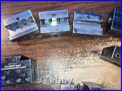 Hardinge L18 Quick Change Tool Post With 6 Tool Holders Some Modified Awsome Lot