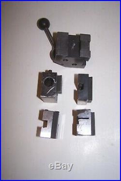Hardinge Quick Change Tool Post Holder Plus Holders