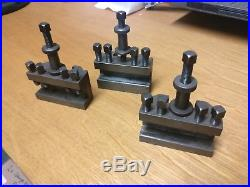 Harrison M300 Quick Change Tool Holders Colchester excellent condition three