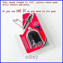 Keyless Chuck Conversion 1/4/Hex Shank Adapter Drill Bit Quick Change Driver