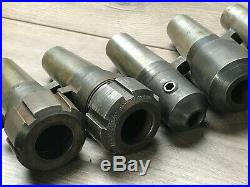 Lot Of Kwik Switch 200 Quick Change Tool Holders 7/8 3/4 5/8 1/2 Collet Chucks