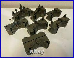 Lot of 7 Original Multifix Lathe Tool Holders made in Germany Quick Change Tools