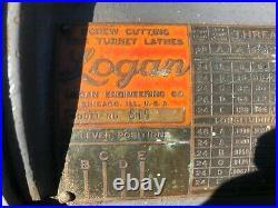 MACHINIST TOOLS LATHE Logan 10 No 815 Lathe with Quick Change Gear Box