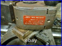 MULTIFIX Size E QUICK CHANGE Tool Post & 7 HOLDERS SPI. SWISS MULTIQUICK