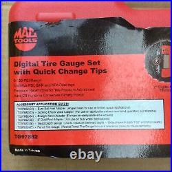 Mac Tools Digital Tire Gauge Set with Quick Change Tip TG97882 New