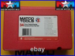 Matco Tools 34 Pc Quick Change Fastener Drive Tool Set MQC34B