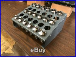 New 5c Collet Set With Collet Rack Lathe Cnc Manual Machining Tool