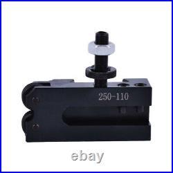 New AXA Size 250-100 Set Piston Type Quick Change Tool Post Set for 6-12 Lathe