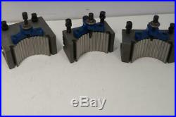 New Haase Germany 9-13 Lathe 40 Position Quick Change Tool Post Set