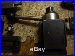 OLDER ARMSTRONG QUICK CHANGE TOOL POST TURRET With HOLDERS FOR METAL LATHE