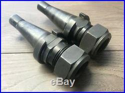 Pair Of Erickson Nmtb30 Quick Change Tool Holder Da180 + Collers
