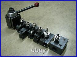 Phase 2 II Quick Change Tool Post Set 6 Holders Wedge Style 250-222 Aloris BXA