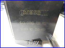 Phase II 14 to 20Lathe Swing Piston Type Quick Change Tool Post 250-400
