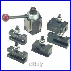 Phase II 251-444 400WST 6 Pc Wedge Q/C Tool Post Set-Lathe Swing 14-20