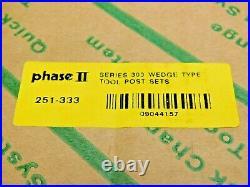 Phase II Wedge Type Quick Change Tool Post Set Series CXA Qty 6 Pcs 251-333