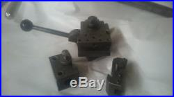 QUICK CHANGE Tool Post, with 4 toll holders, also IMS or DoAll AXA