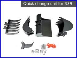 QUICK CHANGE UNIT Bucket/Attachment For 1/12 rc hydraulic excavator/339/270/954