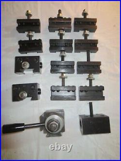 Quick Change (Piston Type) Tool Post & Tool Holder Set