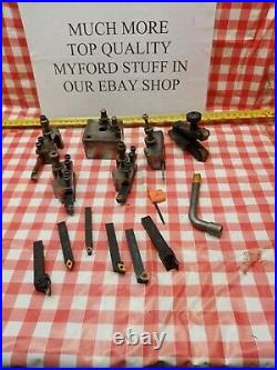 Quick change too post with tools 4 Super 7 B & ML Lathe Direct from myford-stuff
