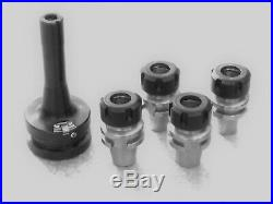R8 Quick Change Tool Holder with Low profile ER25 Collet Adapters, Milling, CNC