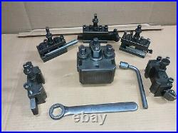 Rapid Type B Quick Change Tool Post With 5 Tool Holders Rapid Fontana Heavy Duty