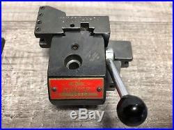 Rare! Kdk 00 Series Tool Post + 4 Holders Jewelers Lathe 001 002 003 006