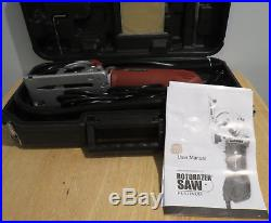 Rotorazer Saw with 3 Quick Change Blade and Dust Extraction System Red