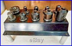 Royal R8 Easy Quick Change System Master Chuck 6 Tool Holders & StorageRack