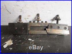 Set of 3 Yuasa Quick Change Tool Holders 740 series 305 307 302 USED Machinist