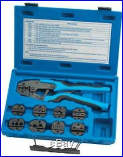 Sg Tool Aid 18980 Quick Change Ratcheting Terminal Crimping Kit With 9 Die Sets