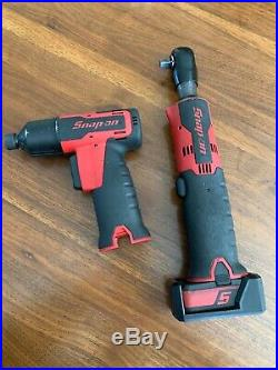 Snap on 14.4V Tools 3/8 Ratchet & Quick Change Impact Wrench CTR761B CT725QC