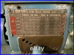 South Bend 8187AN 10 x 28 Quick Change Gear Tool Room Lathe