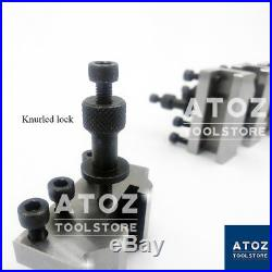 T37 Quick Change Tool post + 4 Holders Myford Lathe 90-115mm Center Height ATOZ