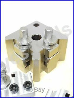 T51 Quick Change Tool Post Boxford Set 51mm 3x Holders x1 Parting Holder 5PC